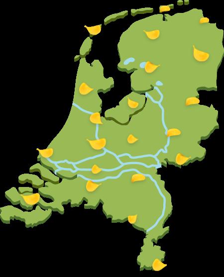 Verkooppunten Boerderij Chips in Nederland