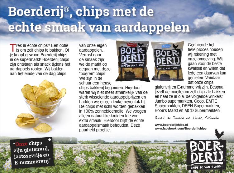 Advertentie Boerderij Chips